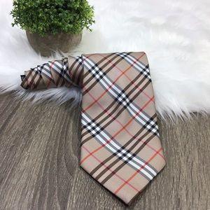 Burberry of London | Brown Nova Check Silk Tie